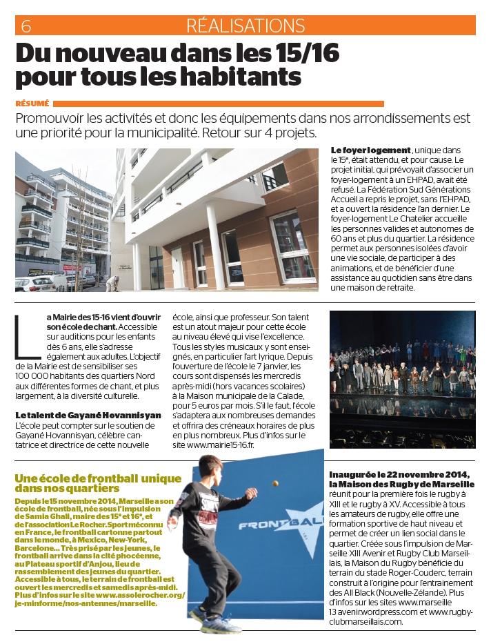 Marseille 15-16 Le Journal (Février & Mars 2015)
